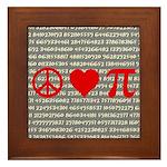 Peace, Love, and Pi Framed Tile