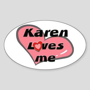 karen loves me Oval Sticker