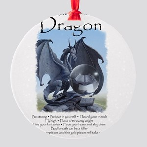 Advice from a Dragon Round Ornament