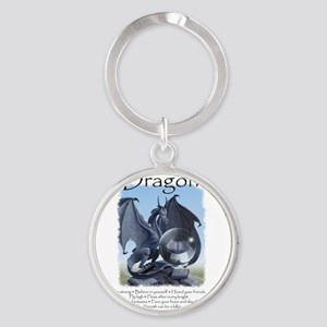 Advice from a Dragon Round Keychain