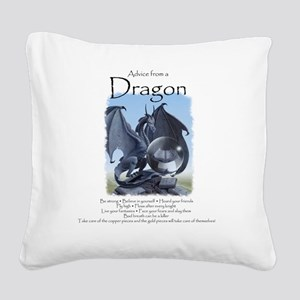 Advice from a Dragon Square Canvas Pillow