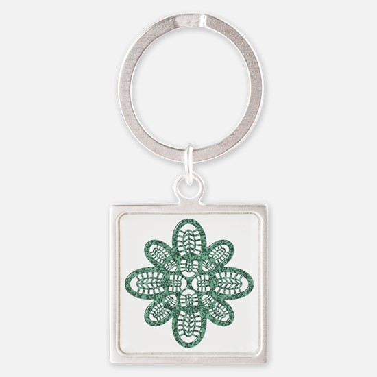 Boot Art Marble Square Keychain
