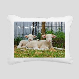 Thank You Cards ~ Buddy  Rectangular Canvas Pillow