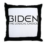 Logical Biden Throw Pillow