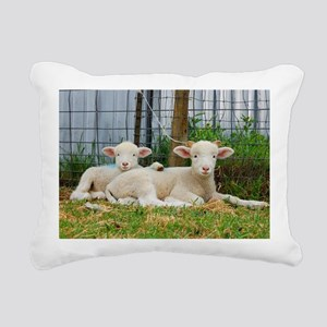 Ewephorics Buddy Lambs Rectangular Canvas Pillow