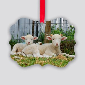 Ewephorics Buddy Lambs Picture Ornament