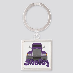 shelby-g-trucker Square Keychain