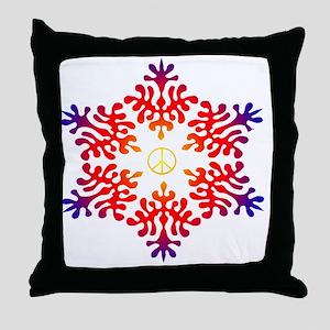 sunset snow peace Throw Pillow