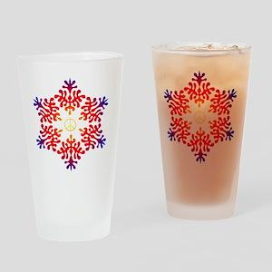sunset snow peace Drinking Glass