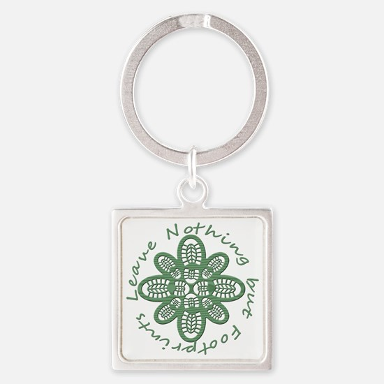 boot nothing but footprints grn Square Keychain