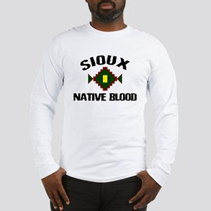 Sioux Native Blood Long Sleeve T-Shirt
