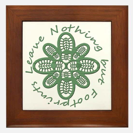 boot nothing but footprints grn Framed Tile