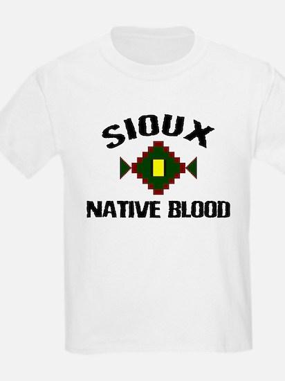 Sioux Native Blood Kids T-Shirt