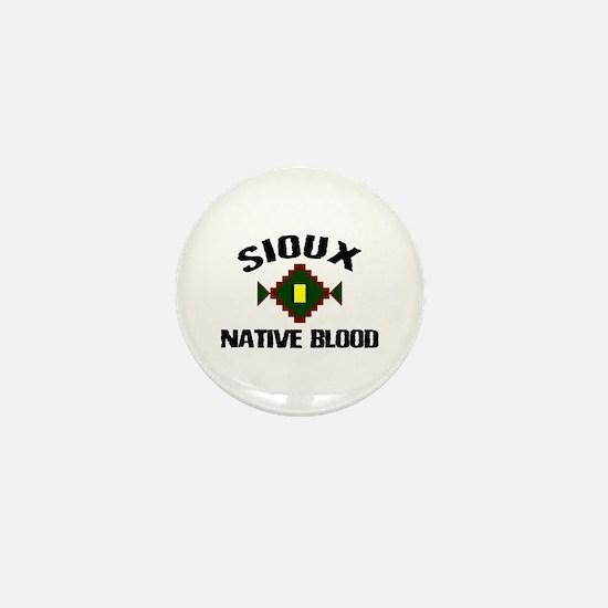 Sioux Native Blood Mini Button
