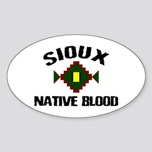 Sioux Native Blood Oval Sticker
