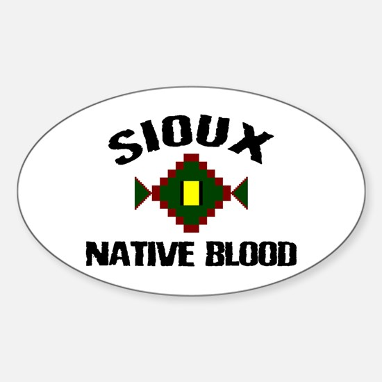 Sioux Native Blood Oval Decal