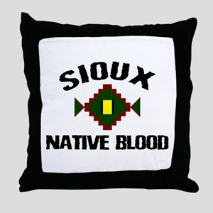 Sioux Native Blood Throw Pillow