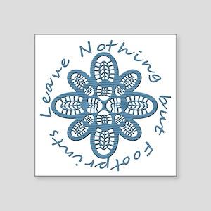 "Nothing but Bootprints Blu Square Sticker 3"" x 3"""