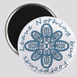 Nothing but Bootprints Blu Magnet