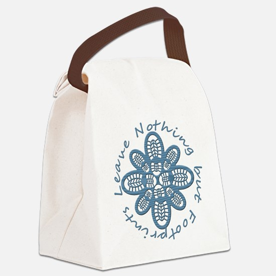 Nothing but Bootprints Blu Canvas Lunch Bag