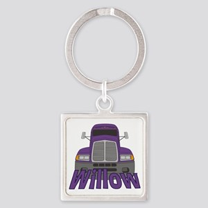 willow-g-trucker Square Keychain