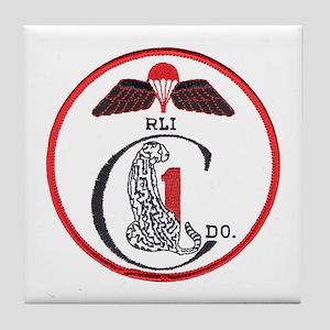 Rhodesia 1st Commandos Tile Coaster