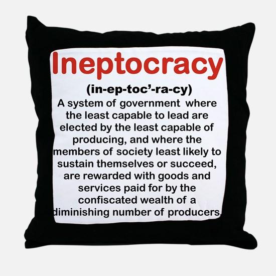 INEPTOCRACY Throw Pillow