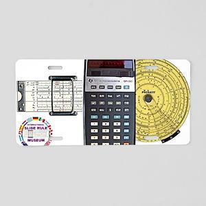 slide rule calculator compo Aluminum License Plate