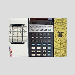slide rule calculator composite w Rectangle Magnet