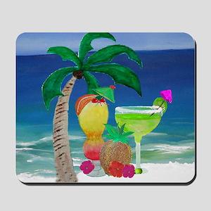 Tropical Drinks on the beach Mousepad