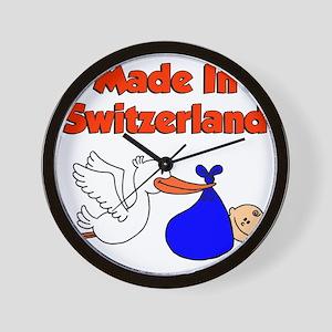 Made In Switzerland Boy Wall Clock