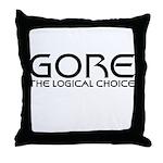 Logical Gore Throw Pillow