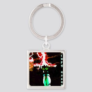 Occupy Asgard (Red Thunder) Square Keychain