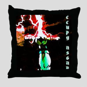 Occupy Asgard (Red Thunder) Throw Pillow