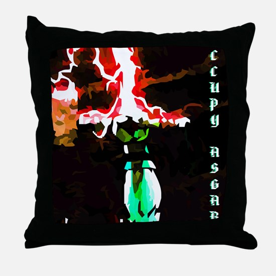 Occupy Asgard (Red Thunder) Throw Pillow
