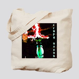 Occupy Asgard (Red Thunder) Tote Bag