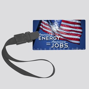 SF_AEnergyJobs_BannerT_42x28_052 Large Luggage Tag