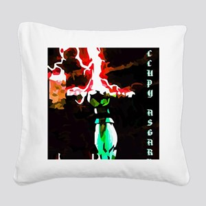 Occupy Asgard (Red Thunder) Square Canvas Pillow