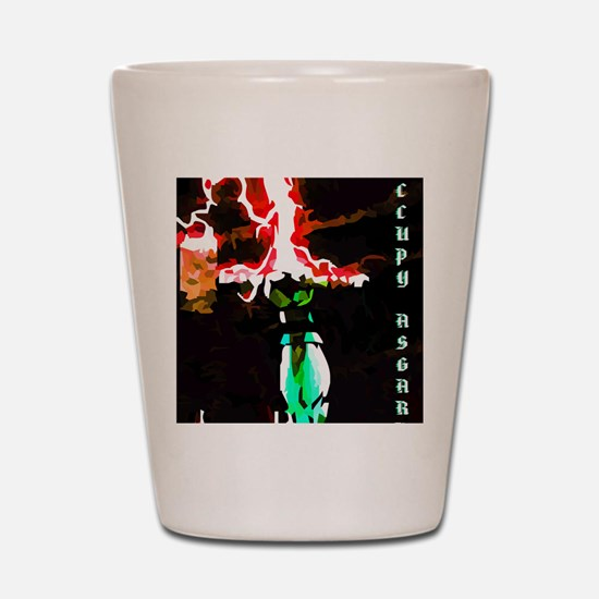 Occupy Asgard (Red Thunder) Shot Glass