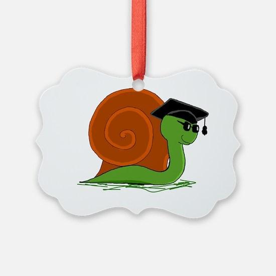 Graduation Snail Ornament