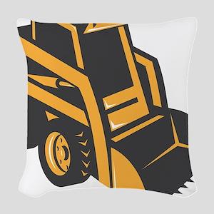 skid steer digger truck Woven Throw Pillow