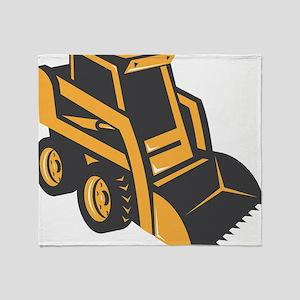 skid steer digger truck Throw Blanket