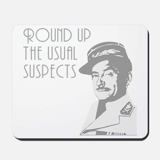 round up the usual suspects Mousepad