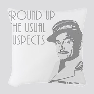 round up the usual suspects Woven Throw Pillow