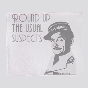 round up the usual suspects Throw Blanket