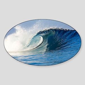 Fijian Wave Sticker (Oval)
