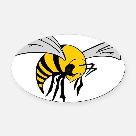 Bee logo 1 Oval Car Magnet