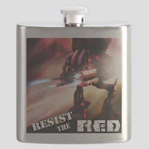 Red Battlenaut Image Cafe Press Flask