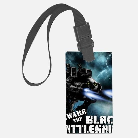 Black Battlenaut Luggage Tag