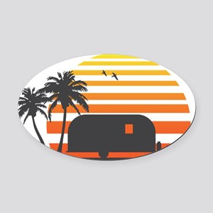 California Streamin Oval Car Magnet